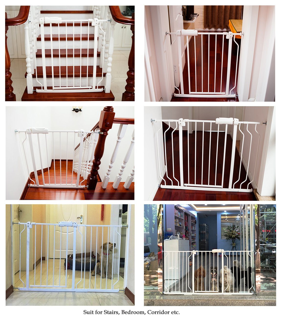 Baby gate for Child Protection and Isolation from Unsafe Places like Stairs and Kitchen 20