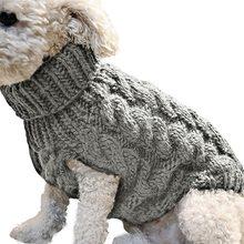 Милые зоотоваров вязаный джемпер свитер зима теплая собака щенок