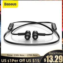 Baseus s06 sem fio bluetooth fone de ouvido magnético neckband fone de ouvido bluetooth esporte fone estéreo para samsung xiaomi