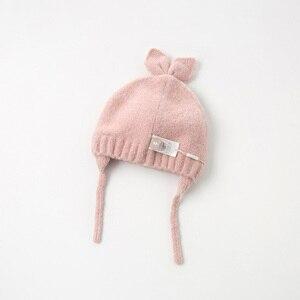 Image 3 - DB11792 dave bella jesienno zimowa dziewczynka żakardowa bawełna wełniana czapka
