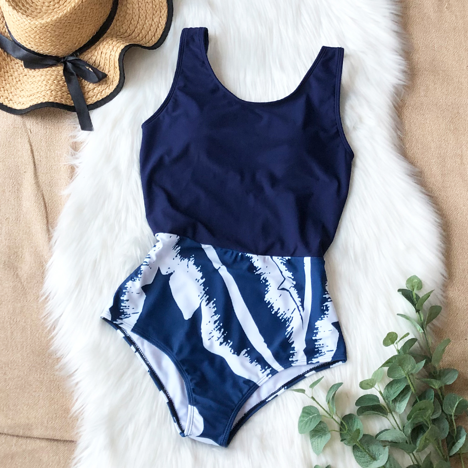 H1bd04eb9d68a49a9a9752bbe5b30837aS - Striped Women One Piece Swimsuit High Quality Swimwear Printed Push Up Monokini Summer Bathing Suit Tropical Bodysuit Female