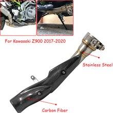 עבור Kawasaki Z900 2017 2020 אופנוע 51mm עמעם פליטה מערכת בריחה שונה התיכון קישור צינור צינור להחליף זרז z900