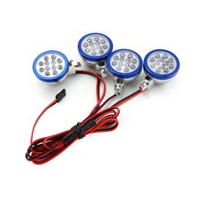 цена на 4 LED Lights Receiver Kit Plastic Shell Lotus Headlights for 1/5 HPI BAJA Rovan King Motor 5B RC Car Parts Accessories