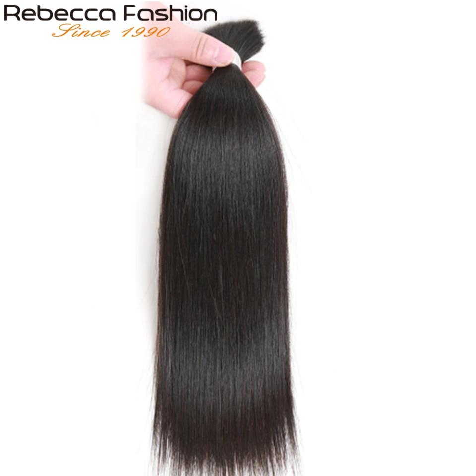 Cabelo Humano Em Massa Para Trançar Rebecca 3 pçs/lote 10 Tranças Nenhuma Trama Do cabelo Reto Malaio Remy Cabelo Humano Em Massa Para 30 polegada