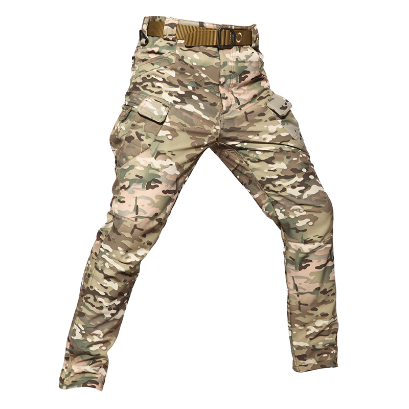 Winter Thick Soft Shell Tactical Pants Men Camouflage Waterproof Warm Cargo Pants Many Pockets Military Trousers Plus Size 5XL
