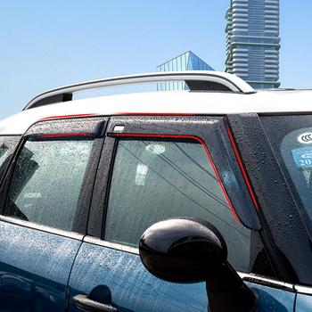Markizy okienne do BMW MINI Cooper F54 F55 F60 R60 osłona przeciwdeszczowa modyfikacja akcesoriów samochodowych tanie i dobre opinie ROYAL CRAFTSMAN CN (pochodzenie) Organic glass 4 Pcs set
