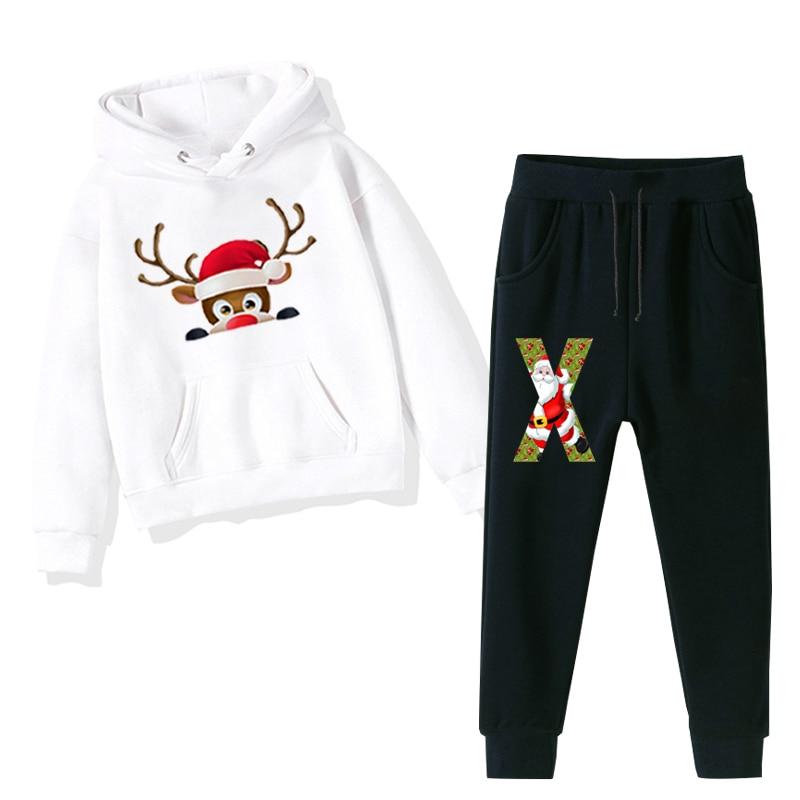 Fashion Kawaii Sets Christmas Outfits Toddler Boy Hoodie Kids Sweatshirts with Long Pants Legging Bottom Girls Winter Clothes