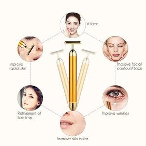 Image 4 - Mały rozmiar Energy upiększacz urządzenie do masażu twarzy rolka kosmetyczna do twarzy masażer wibracyjny Stick Lift napinanie skóry pasek zmarszczek