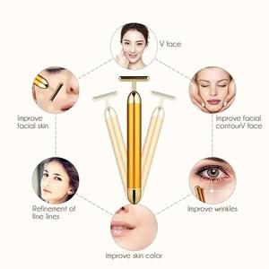 Image 4 - Small Size Energy Beauty Bar Face Massage Tool Facial Beauty Roller Vibration Massager Stick Lift Skin Tightening Wrinkle Bar