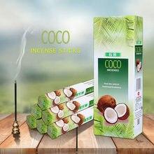 Artracyse 20 varas índia coco incenso sândalo casa de banho quarto wc agarwood tibetano linha aromaterapia