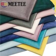 Meetee 50/100cm 146cm yüksek dereceli kalınlaşmış kadife kumaş düz renk peluş kumaş DIY kanepe yastık giyim perde dikiş aksesuar