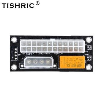 TISHRIC Schwarz Dual Netzteil netzteil Sync Adapter Add2psu ATX 24Pin Zu 4pin Molex Synchron Anschluss Riser Kabel Bergbau Bergmann