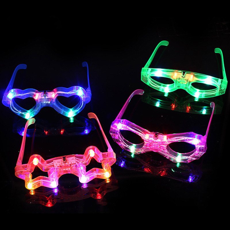 Funny Novelty Party Luminous Glasses Fancy Dress Eye-catching Party Cosplay Costume Sunglasses Toy Random Colors