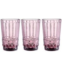 3pcs / lot Drinking Glasses Juice Whisky Cup Bar Household Wedding  350ml Milk Coffee Embossed Tumbler Beverage Glass Cups fashion free shipping lead free crystal handmade blown beer glass beverage juice cup household large capacity drinking utensils