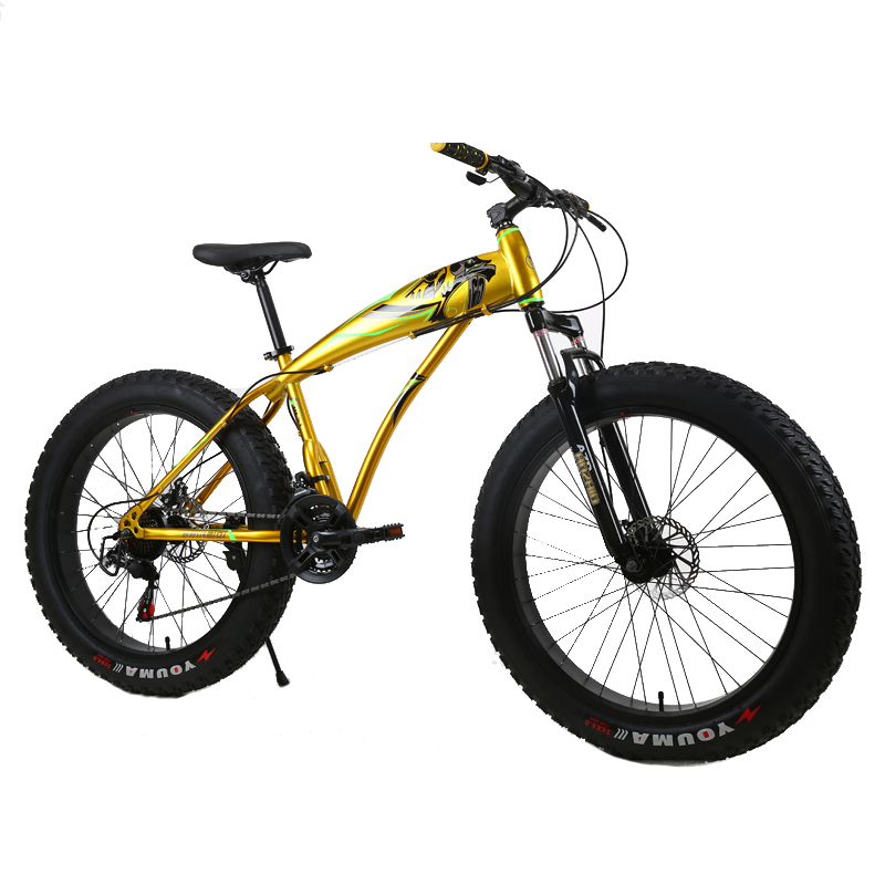Mountain Bike Snow Bicycle Beach Mountain Bicycle High Carbon Steel 26 Inch 7/21/24/27 Speed New 4.0 Fat Tire Mountain Bike