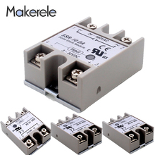 Makerele Low Power 3-32VDC Solid State Relay Generel Purpose SSR-10DA 10A Module Input 24-380VAC цена