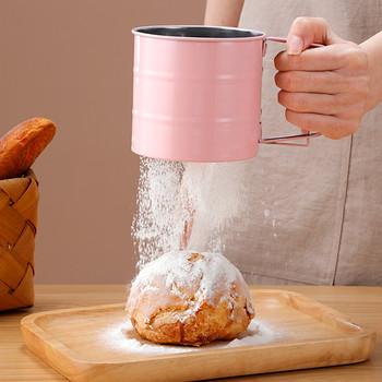 Sito do mąki akcesoria do ciast akcesoria do pieczenia ciast półautomatyczne ręczne wytrząsarki do mąki ręczne naciśnięcie sito do przesiewania mąki akcesoria kuchenne tanie i dobre opinie TREASURE TREE CN (pochodzenie) Przesiewacze i shakers Ekologiczne Na stanie Metal Narzędzia do pieczenia i cukiernicze