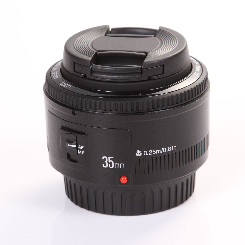 Yongnuo YN35mm F2 Wide Angle Auto Focus AF MF Lens+Cap for Canon EF EOS Camera 500d 600d 120d 5d mark iii 6d 7d 60d 70d 1000d 1d