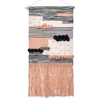 Tapiz de tejido bohemio para colgar en la pared, tapiz Vintage geométrico,...