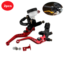 Motorcycle Brake Clutch Pump Lever Hydraulic Master Cylinder 7/8 22mm Adjustable Brake Clutch Motorcycle Accessories Universal motorcycle cable clutch hydraulic brake clutch pump master cylinder handle lever with electric contactor for stoplight with logo page 7