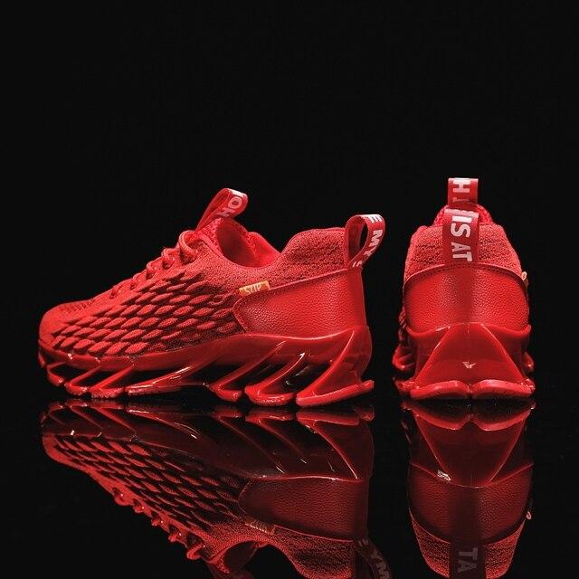 Men Blade Shoes Soft Running Shoes Men's Breathable Walking Jogging Shoes Outdoor Fashion Shoes Men Casual Cool Black 3