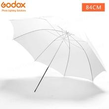 """Godox 3"""" 84 см мягкий белый диффузор для студийной фотографии полупрозрачный зонт для студийной вспышки стробоскопического освещения"""