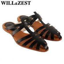 Will&Zest Flatform Sandals Ethnic Hippie Shoes Summer Women Footwear Low Heel Casual Platform Mules Slippers Trekking Chaussure