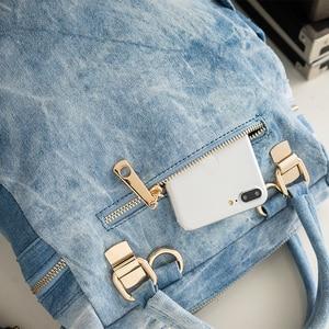 Image 4 - 2020 iPinee אופנה נשים תרמיל תרמילי ג ינס באיכות גבוהה עבור נערות נשי בית ספר כתף תיק Bagpack המוצ ילה