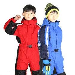 Детский Зимний лыжный комбинезон, водонепроницаемый ветроустойчивый сноуборд, детская верхняя одежда, пальто для мальчиков и девочек, От 2 ...