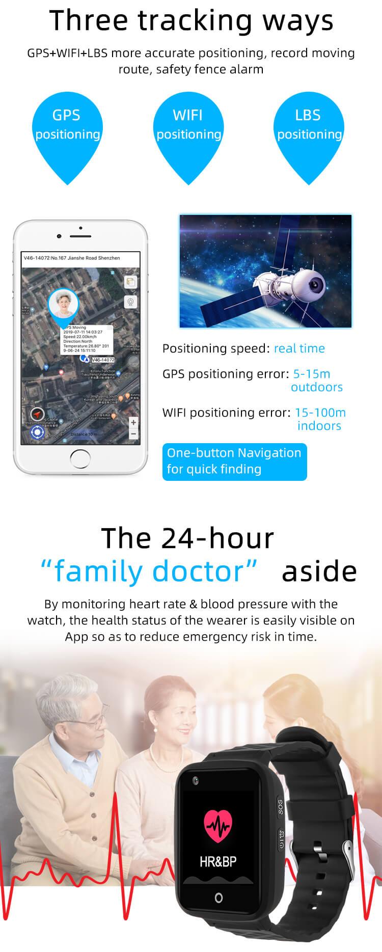 4g gps wifi inteligente anti-perdido relógio de