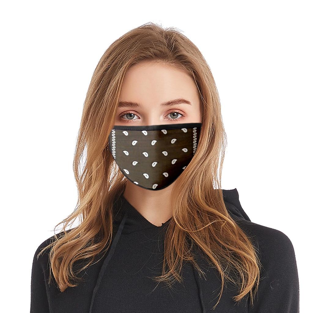 Fashion Cashew Flower Couple Print Mask Multi Color Comfortable Washable Mask Protection Breathable Respirator Masque Mascarilla