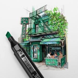Image 5 - TOUCHFIVE علامات القلم 36 60 80 168 ألوان الفن رسم التوأم أقلام خطاط (ماركر) اسع الجميلة نقطة الجرافيك مانغا أنيمي علامات