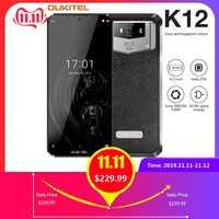 OUKITEL 10000mAh 5 V/6A Carica Rapida Smartphone K12 6.3 FHD + Grande Schermo Waterdrop Android 9.0 octa Core Del Telefono Mobile 6GB 64GB