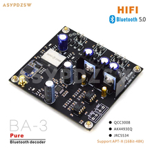 Профессиональная версия BA-3 HIFI QCC3008+ AK4493EQ чистый Bluetooth 5,0 DAC декодер плата с MKC часы