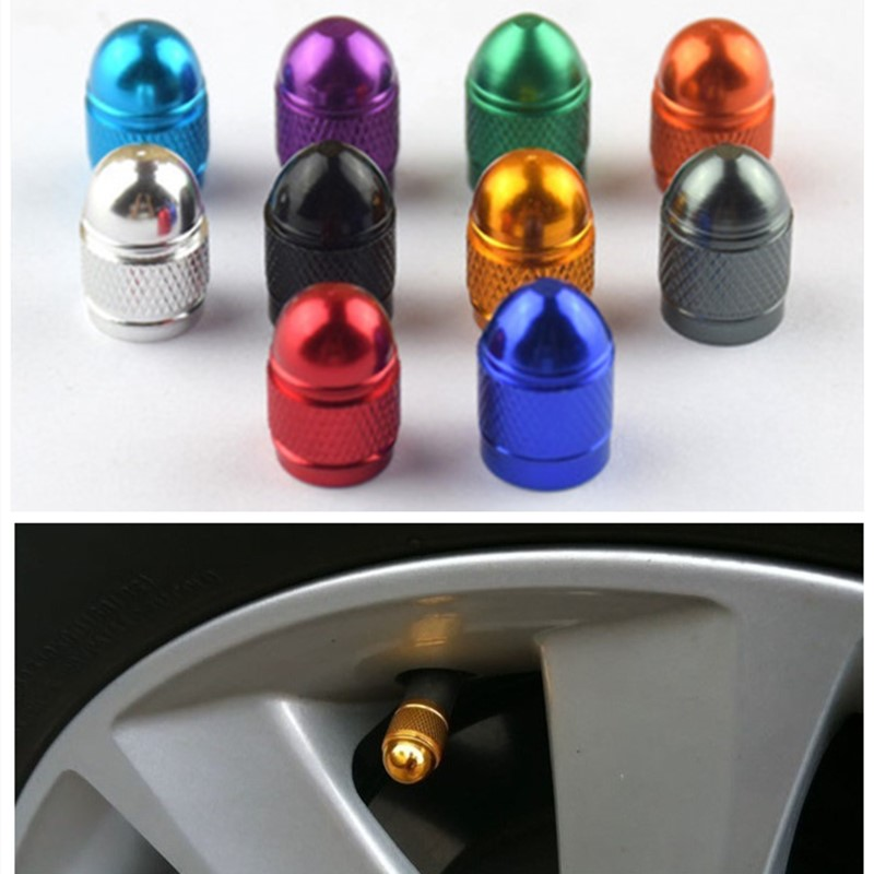 Creative Car Supplies Valve Cap Multicolor Aluminum Alloy Universal Dust-Proof W
