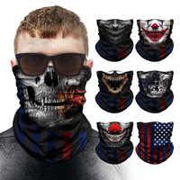 Спортивный шарф с черепом, велосипедные лыжные головные уборы, гетры для шеи, ветрозащитные банданы для рыбалки, бесшовная Балаклава, маска ...
