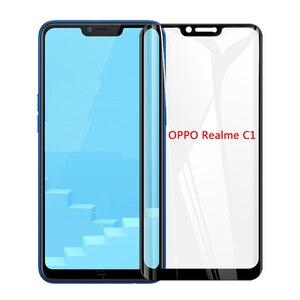 Image 4 - 3D מלא דבק מזג זכוכית עבור Oppo A1K Oppo Realme 3 מלא מסך כיסוי מסך מגן סרט עבור Oppo Realme c1 C2