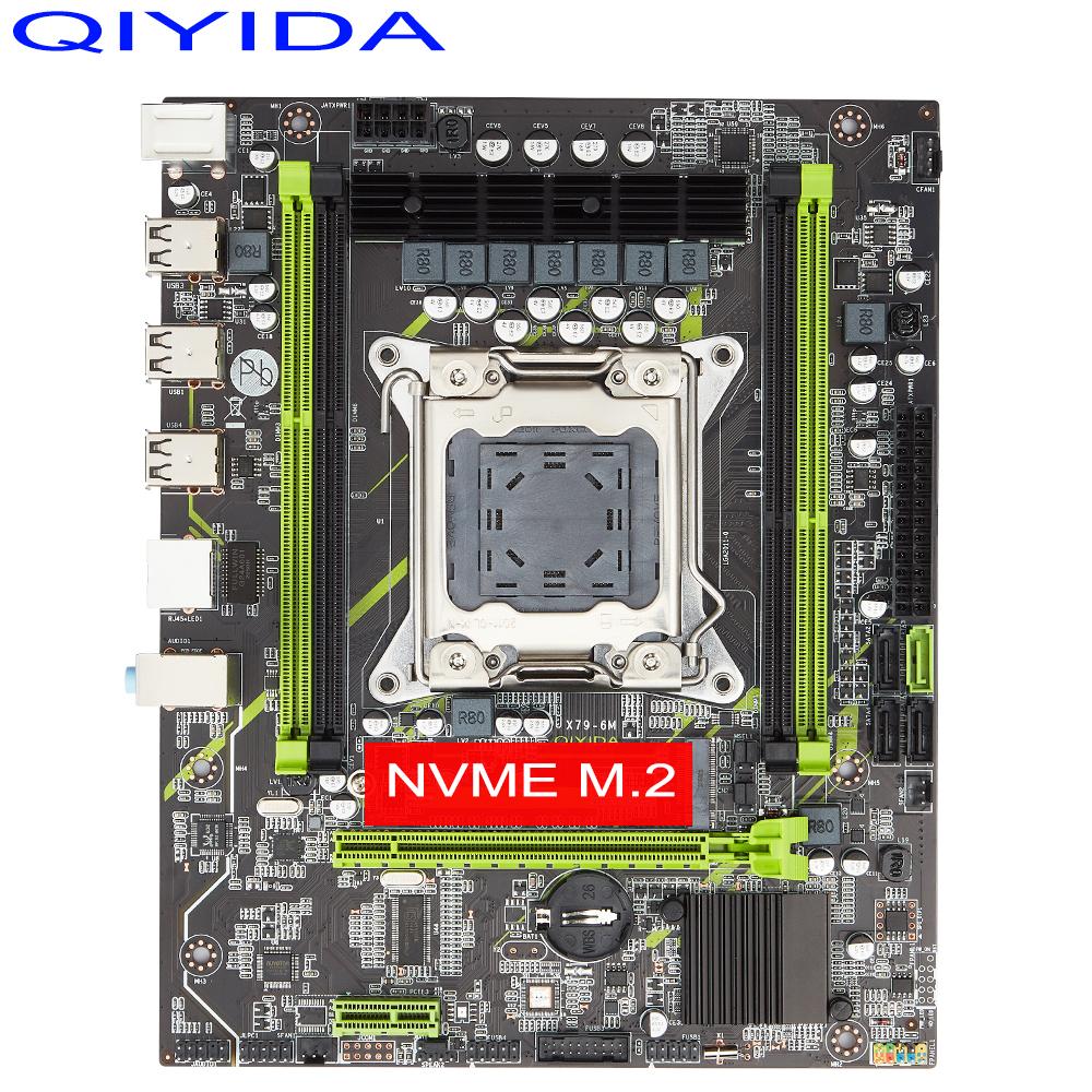 QIYIDA X79 motherboard LGA 2011 USB2.0 SATA3 Dual protocol m.2 support REG ECC memory and Xeon E5 processor DDR3 x79 6M