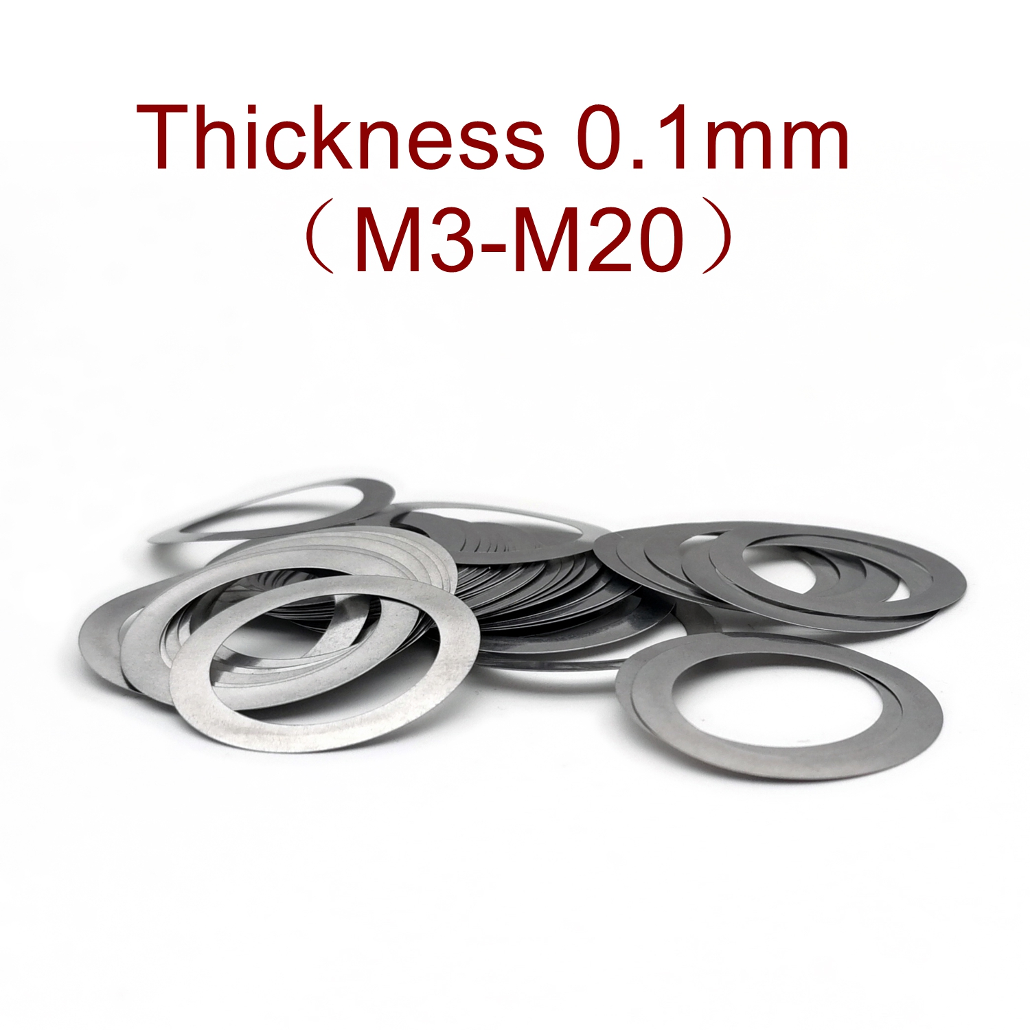 Thickness 0.1mm Stainless steel Flat Washer Ultra thin gasket High precision Adjusting gasket M3-M20 Thin shim SUS304
