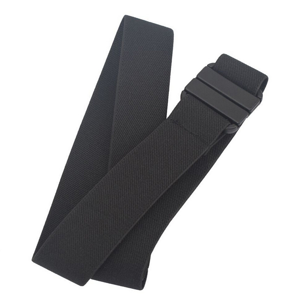 Adjustable Stretch Belt Belt No Show Flat Buckle Non-Slip Backing  Z914