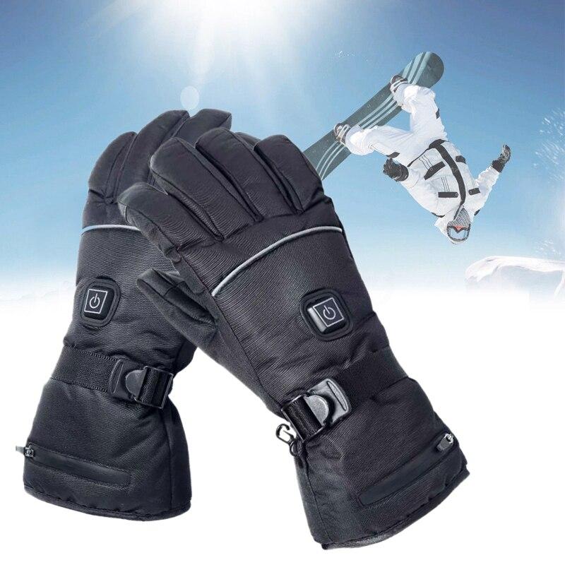 Tissu polyester hydrofuge + mains chauffantes extérieures PU + 2 gants chauffants électriques pour moto à batterie Rechargeable
