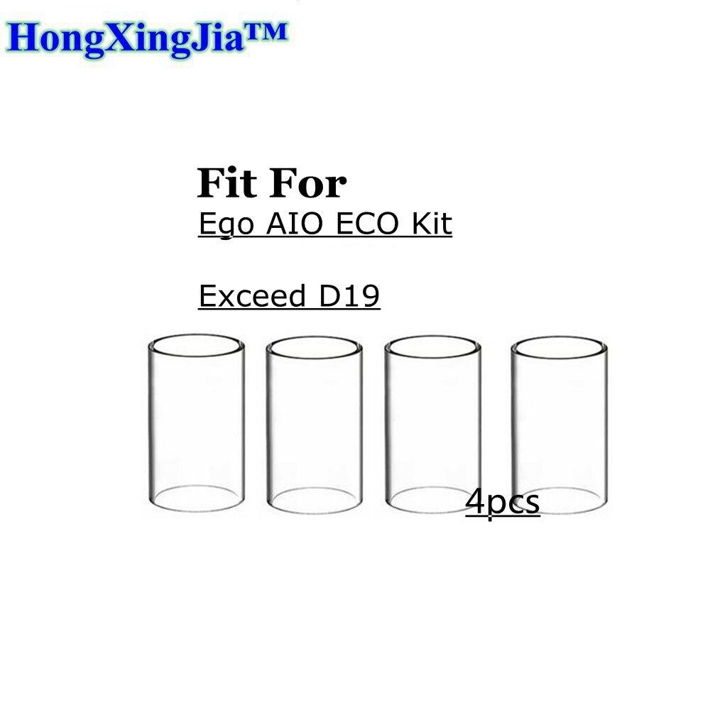 4pcs Hxjvape Original Vape Glass Tube tank for Joyetech EGO AIO ECO Kit / Exceed D19 Kit 1.2ml Atomizer rta