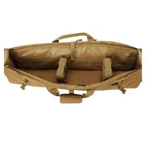 Image 5 - Тактический охотничий рюкзак около 100 см, квадратная переносная сумка с двойной винтовкой и ремешком на плечо, защитный чехол для оружия, рюкзак 1000D, нейлон
