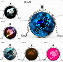 2019 / Hot Sale Multicolor Fairy Tail Necklace Bump Glass Men and Women Jewelry
