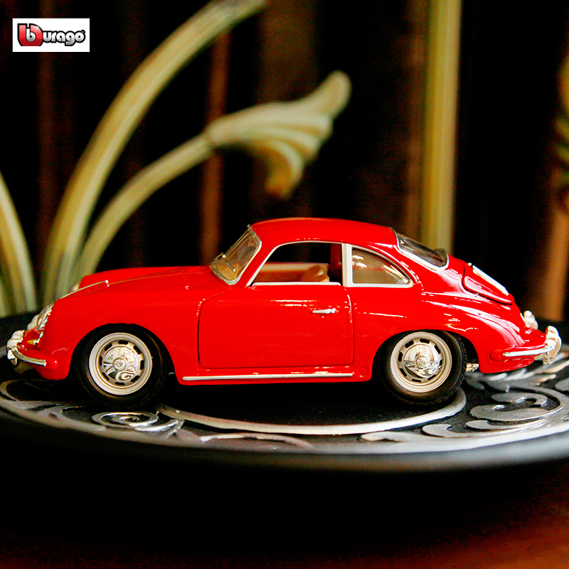 Bburago 1:24 Porsche 1961 Hard top simulation alloy car model crafts decoration collection toy tools gift