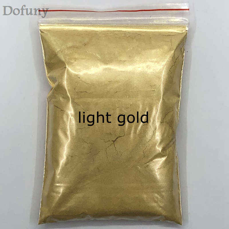 50g Mica GOLD ผงสีสำหรับ DIY ตกแต่งสีเครื่องสำอางโลหะทองฝุ่นสบู่ DYE