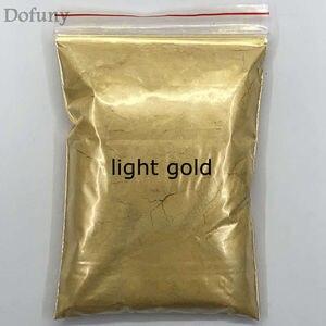 Image 2 - 50g عالية الجودة الميكا مسحوق ذهبي الصباغ لديي الديكور الطلاء مستحضرات التجميل المعدنية الذهب الغبار الصابون صبغ