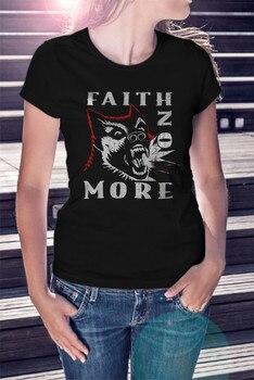Faith No More Women Black T-Shirt Metal Band Tee Shirt Mike Patton Mr Bungle Full-Figured Tee Shirt