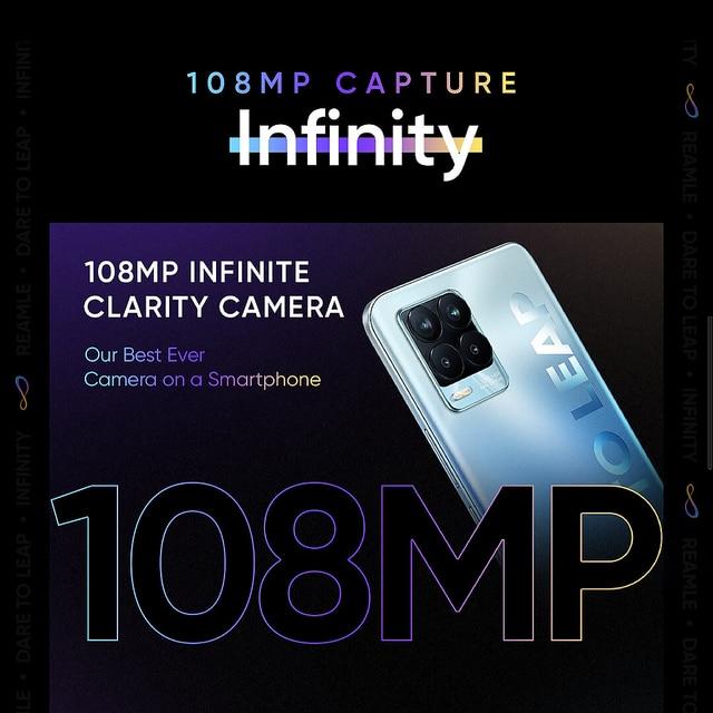 realme 8 Pro 6GB 128GB Global Version 108MP Camera 50W SuperDart Charge AMOLED Snapdragon 720G 4