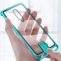 Pull Plus Metal Frame Case For Oneplus 7 Pro 6T Case Tempered Glass Highly Shockproof Back Cover For Oneplus 7 Pro 6T Fundas   -